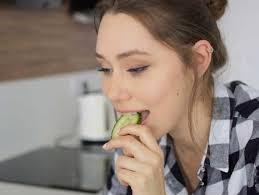 eating cucumbers