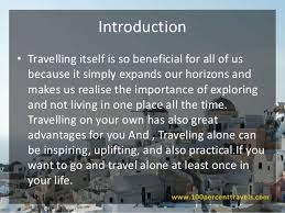 travelling Introduction