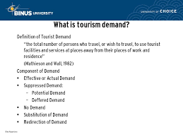 travelling Tourist Demand