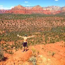 Paragliding and hiking in Sedona Arizona