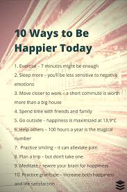 Ten things to improve happiness
